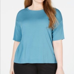 Eileen Fisher Tencel Stretch Plus Top River Blue